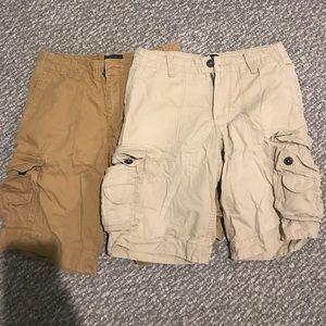 Set of 2 Aeropostale men's cargo shorts. Size 29